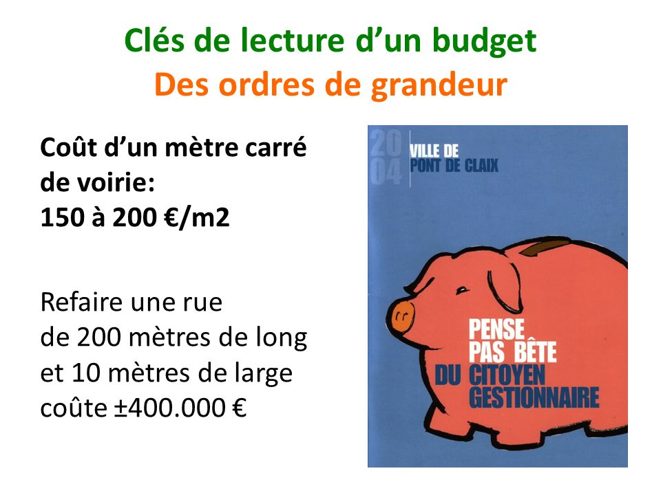 Clés de lecture d'un budget Des ordres de grandeur