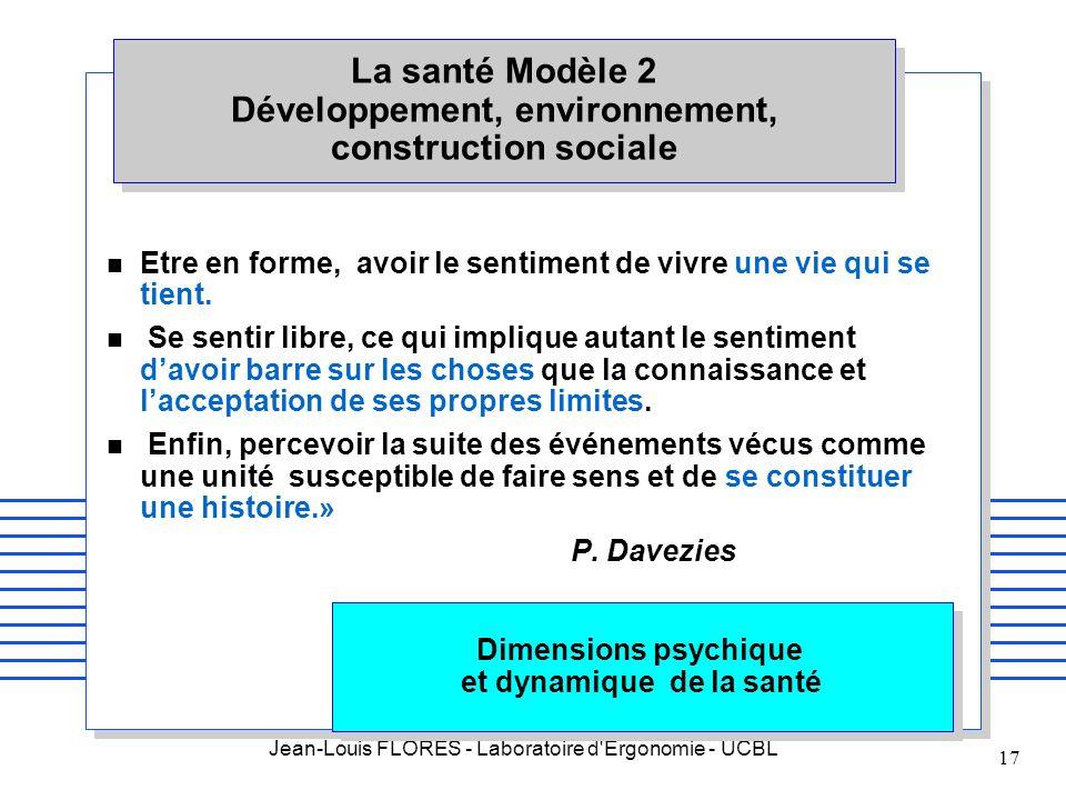 Dimensions psychique et dynamique de la santé