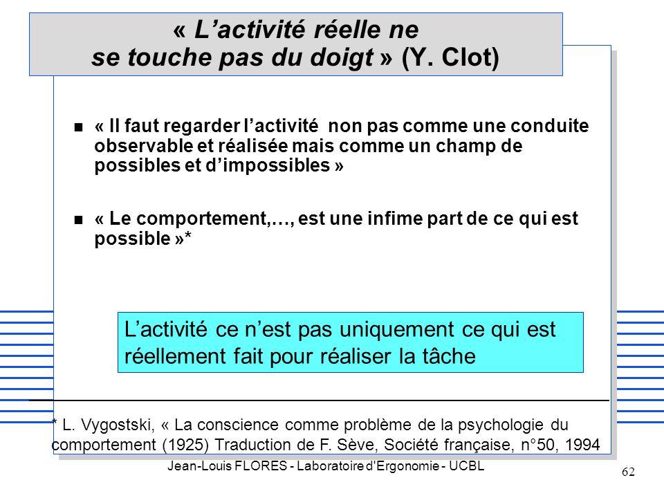 « L'activité réelle ne se touche pas du doigt » (Y. Clot)