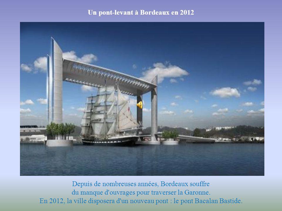 Un pont-levant à Bordeaux en 2012