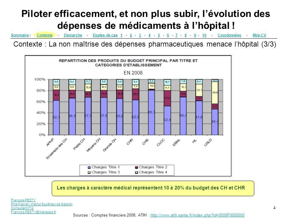 Piloter efficacement, et non plus subir, l'évolution des dépenses de médicaments à l'hôpital !