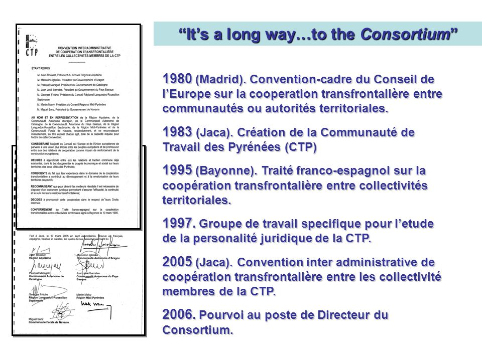 It's a long way…to the Consortium