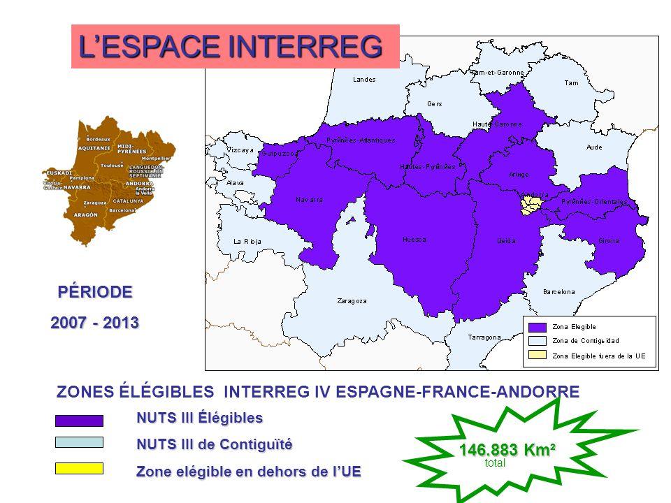 L'ESPACE INTERREG PÉRIODE 2007 - 2013