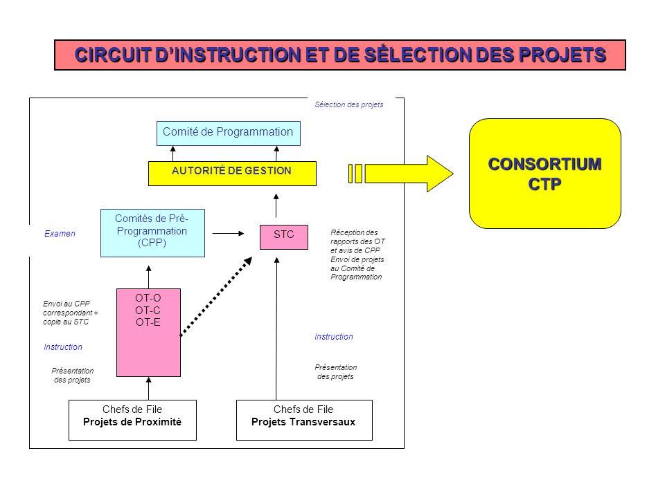 CIRCUIT D'INSTRUCTION ET DE SÉLECTION DES PROJETS