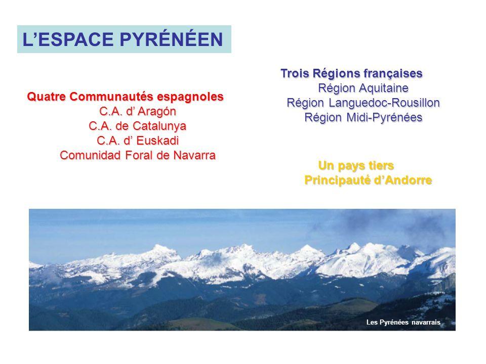 L'ESPACE PYRÉNÉEN Trois Régions françaises Région Aquitaine