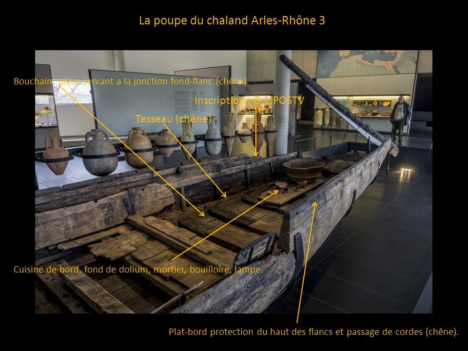 La poupe du chaland Arles-Rhône 3