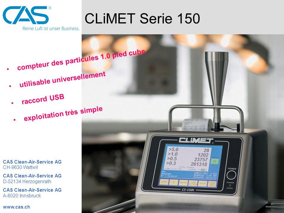 CLiMET Serie 150 compteur des particules 1.0 pied cube