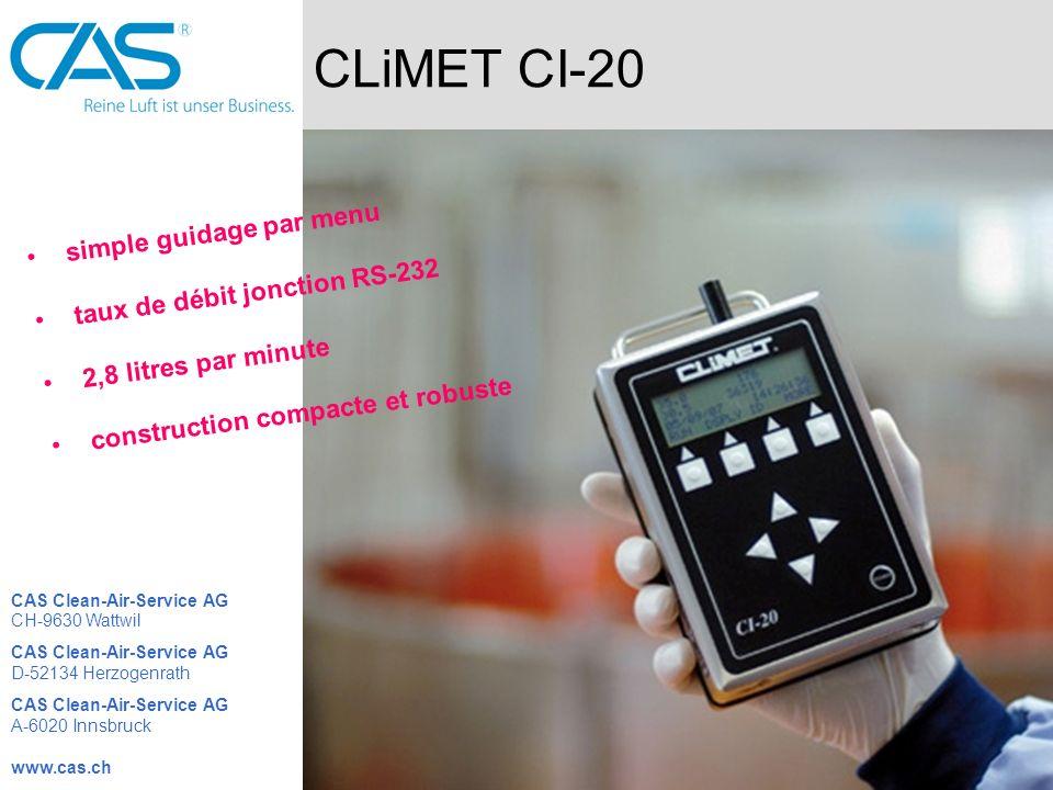 CLiMET CI-20 simple guidage par menu taux de débit jonction RS-232