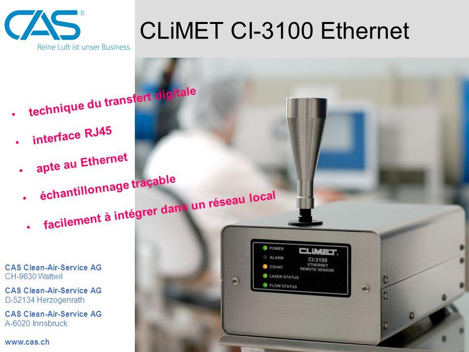 CLiMET CI-3100 Ethernet technique du transfert digitale interface RJ45