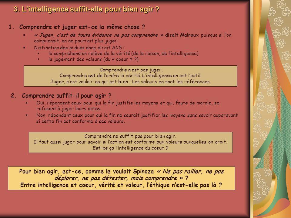 3. L'intelligence suffit-elle pour bien agir