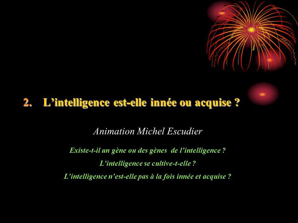L'intelligence est-elle innée ou acquise