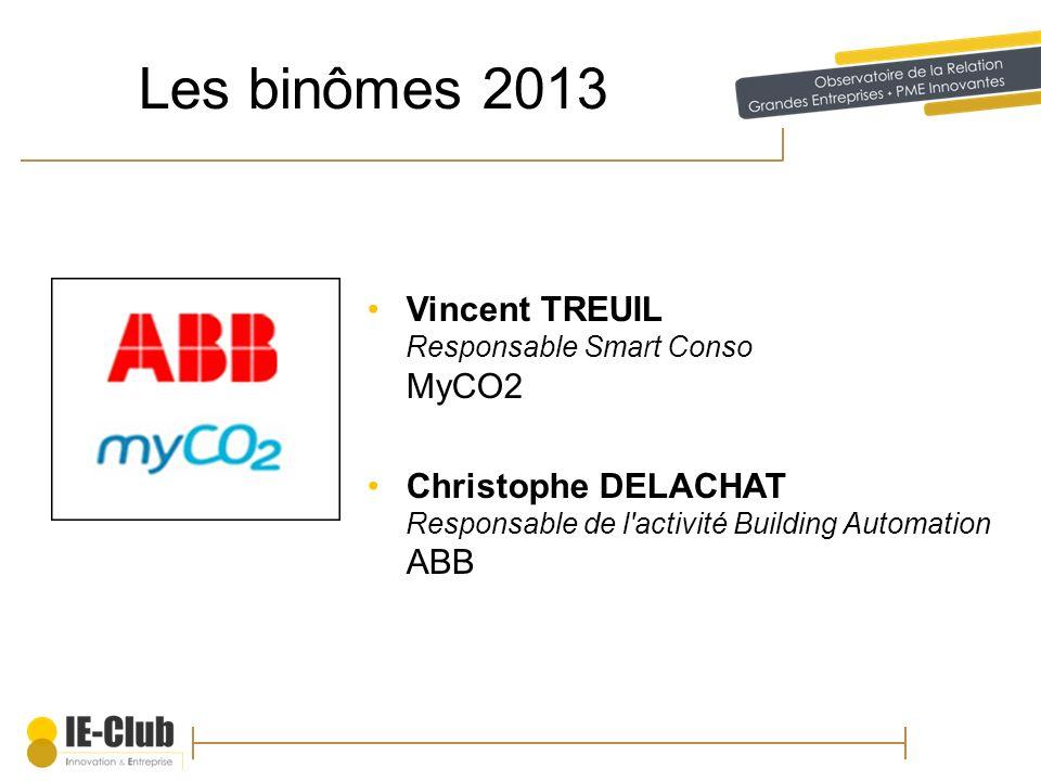Les binômes 2013 Vincent TREUIL Responsable Smart Conso MyCO2