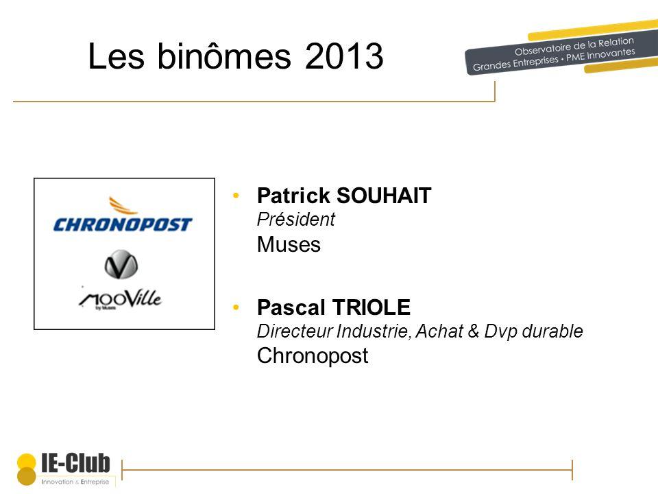 Les binômes 2013 Patrick SOUHAIT Président Muses