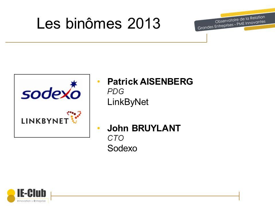 Les binômes 2013 Patrick AISENBERG PDG LinkByNet