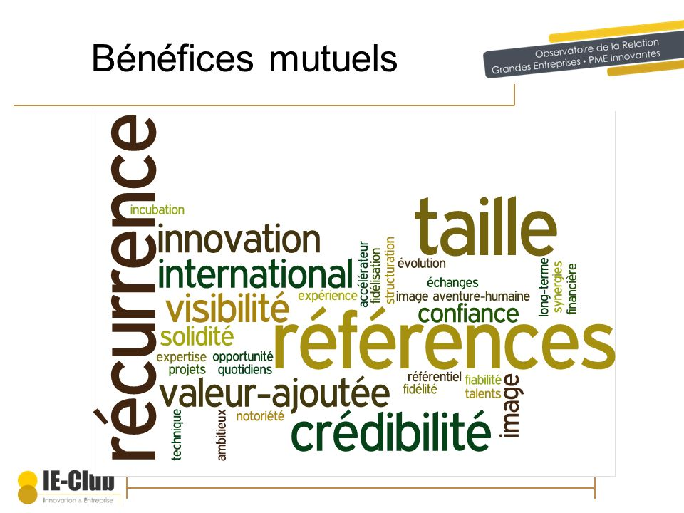 Bénéfices mutuels