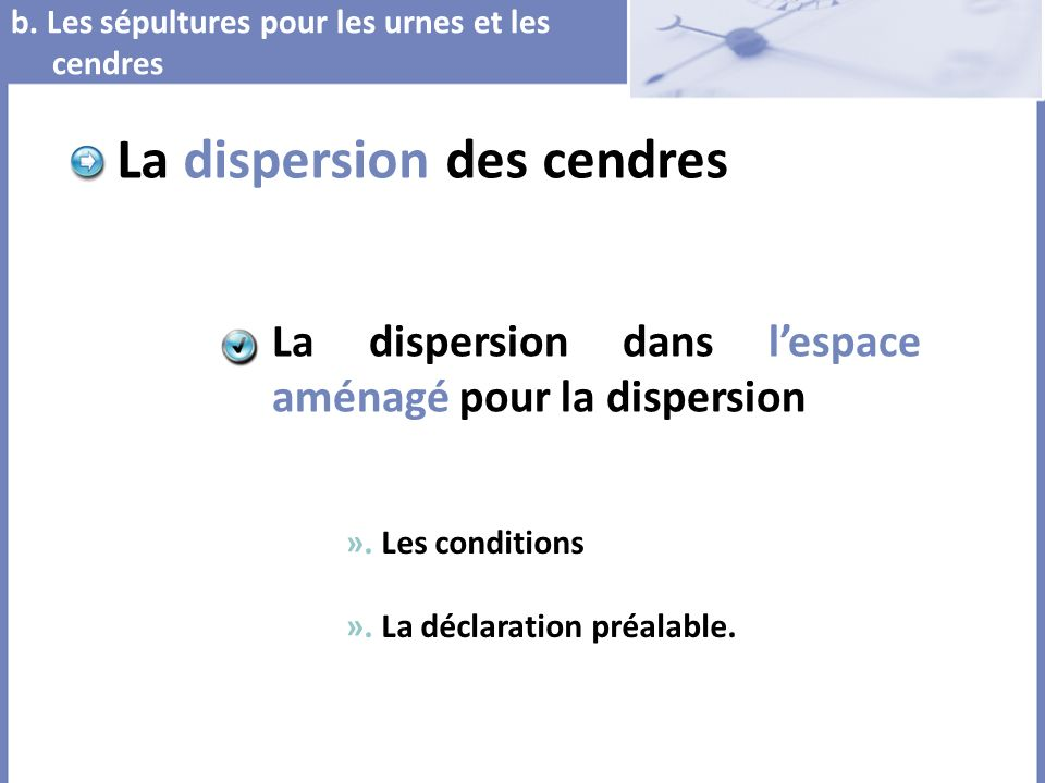 La dispersion des cendres