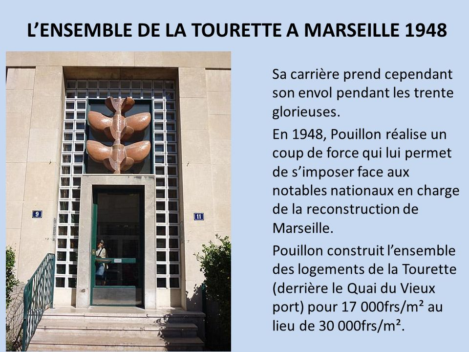 L'ENSEMBLE DE LA TOURETTE A MARSEILLE 1948