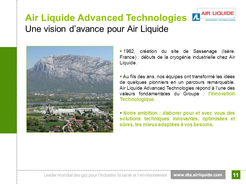 Air Liquide Advanced Technologies Une vision d'avance pour Air Liquide