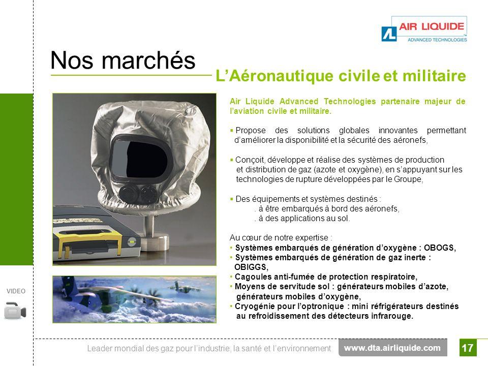 Nos marchés L'Aéronautique civile et militaire www.dta.airliquide.com