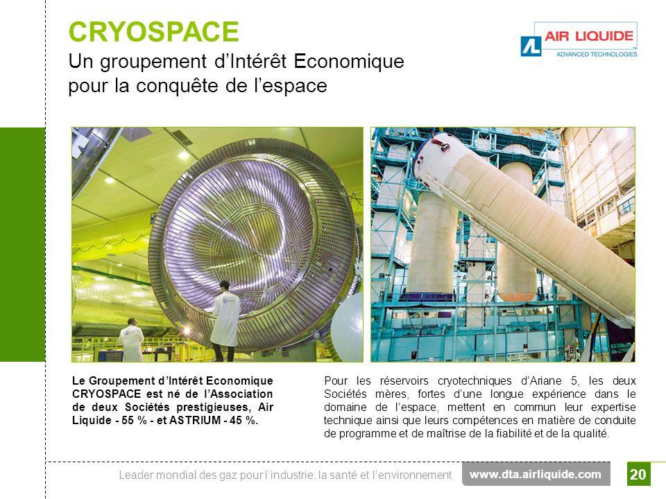 CRYOSPACE Un groupement d'Intérêt Economique pour la conquête de l'espace