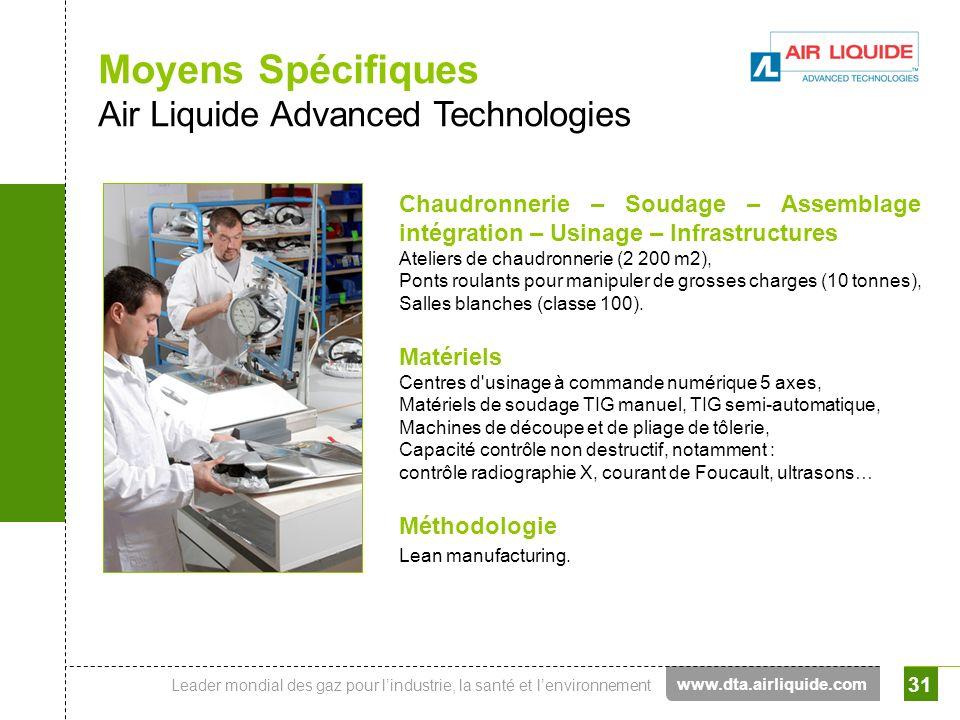 Moyens Spécifiques Air Liquide Advanced Technologies