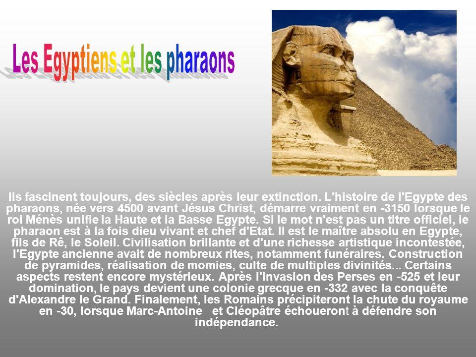 Les Egyptiens et les pharaons