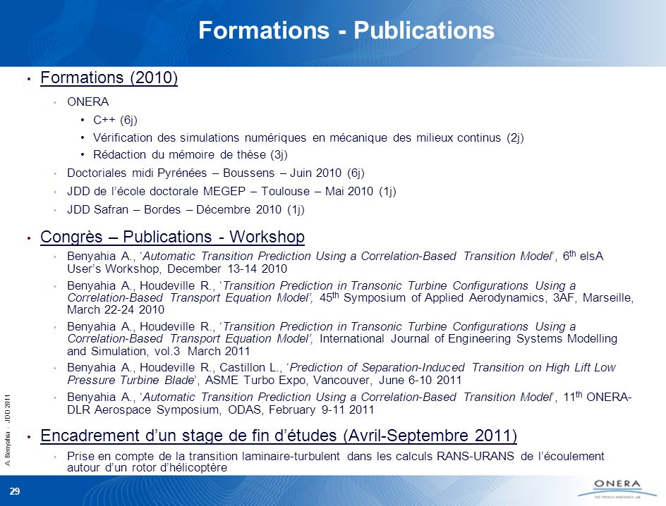Formations - Publications