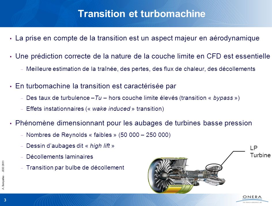 Transition et turbomachine