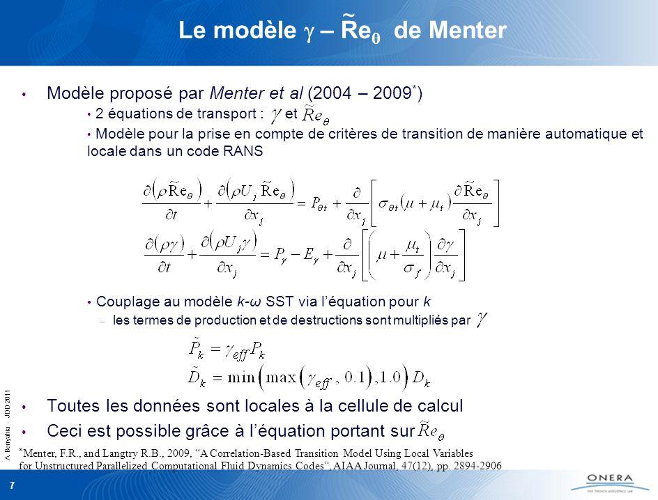 Le modèle g – Req de Menter