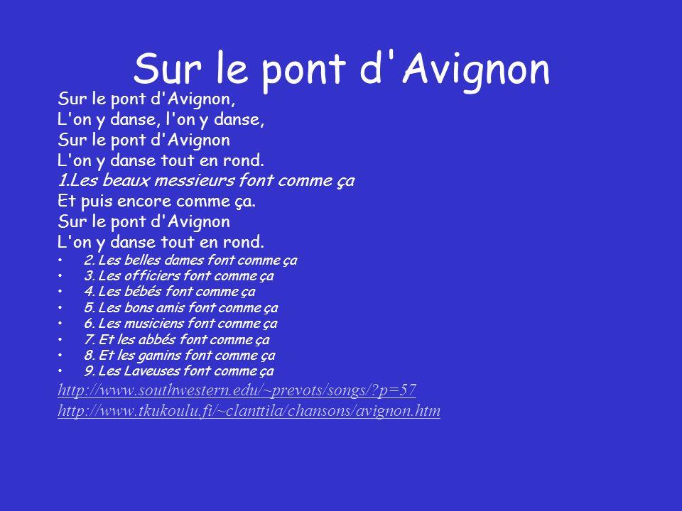 Sur le pont d Avignon Sur le pont d Avignon,