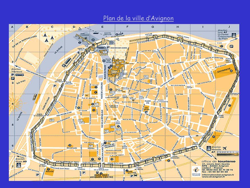 Plan de la ville d'Avignon
