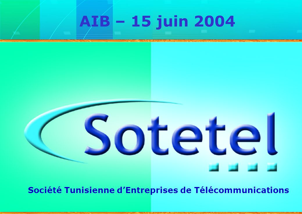 AIB – 15 juin 2004 Monsieur le Président de l'AIB (Si Hamza), Mesdames et Messieurs les analystes financiers,