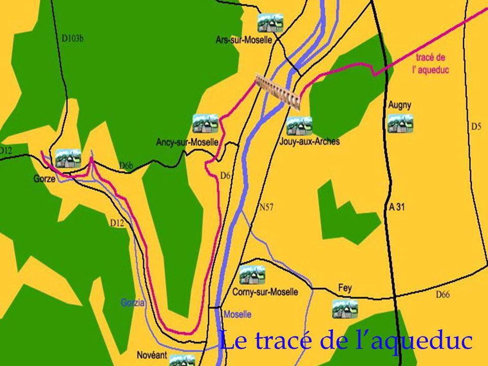 Le tracé de l'aqueduc