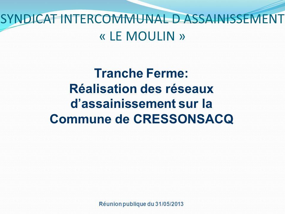 SYNDICAT INTERCOMMUNAL D ASSAINISSEMENT « LE MOULIN »