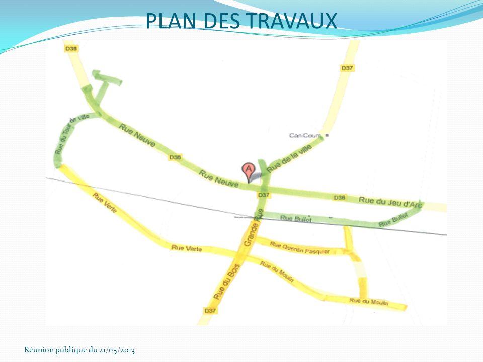 PLAN DES TRAVAUX Réunion publique du 21/05/2013