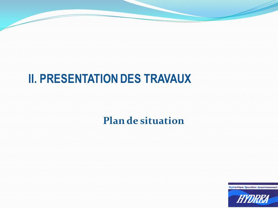 II. PRESENTATION DES TRAVAUX
