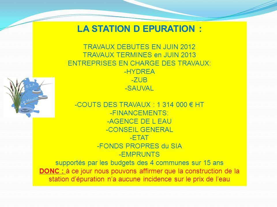 LA STATION D EPURATION :