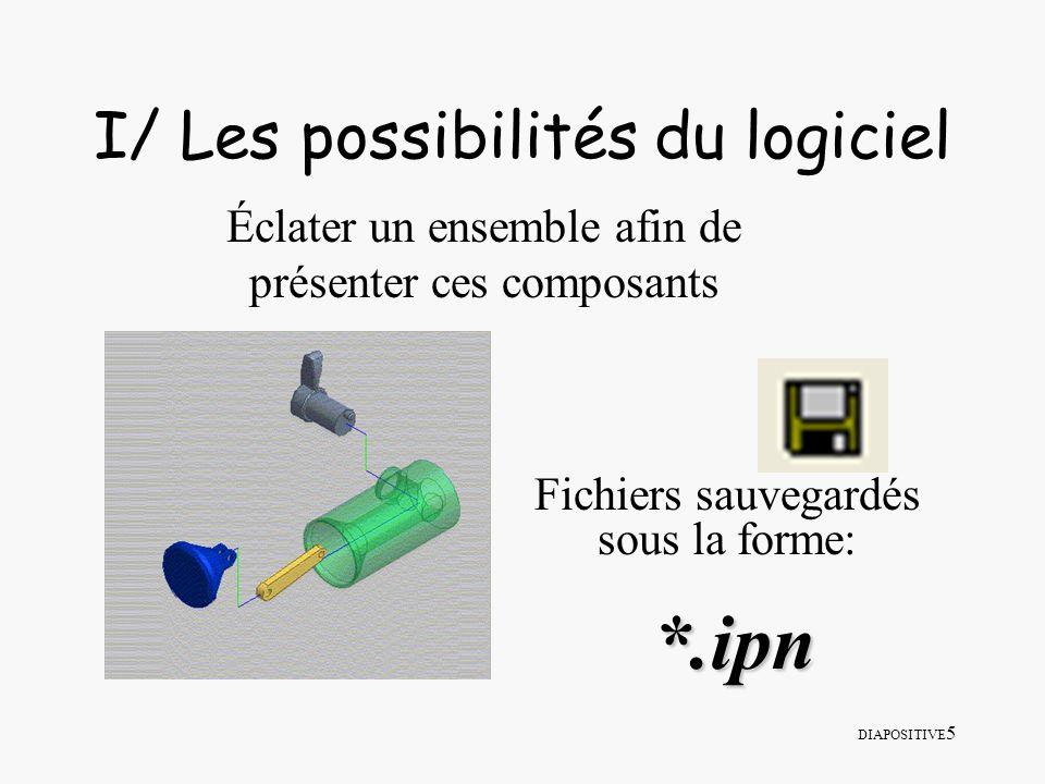 I/ Les possibilités du logiciel