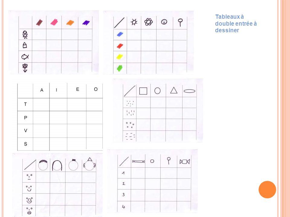 Tableaux à double entrée à dessiner