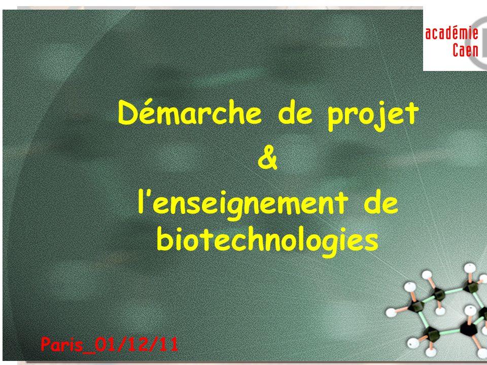 l'enseignement de biotechnologies