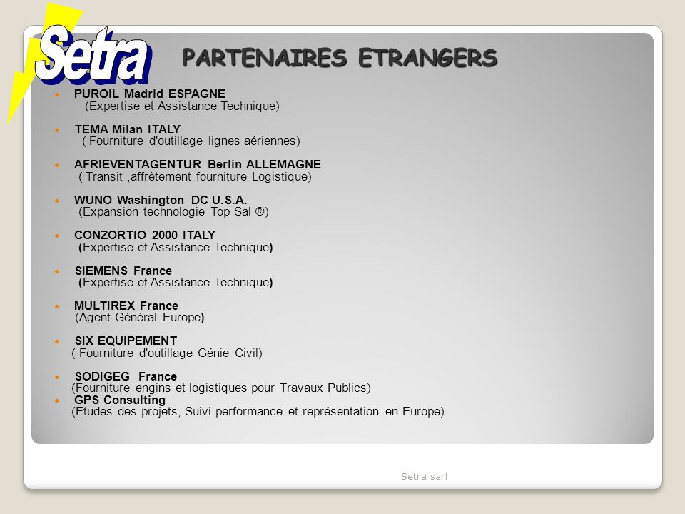 Setra PARTENAIRES ETRANGERS PUROIL Madrid ESPAGNE
