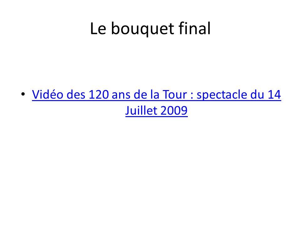 Vidéo des 120 ans de la Tour : spectacle du 14 Juillet 2009