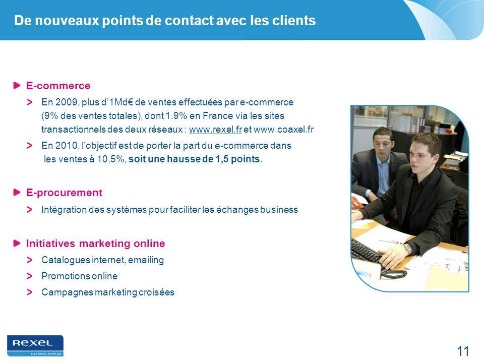 De nouveaux points de contact avec les clients