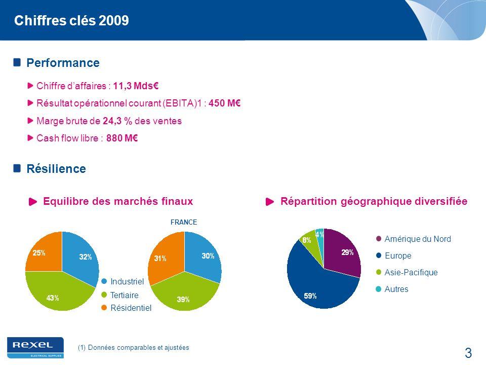 Chiffres clés 2009 Performance Résilience Equilibre des marchés finaux