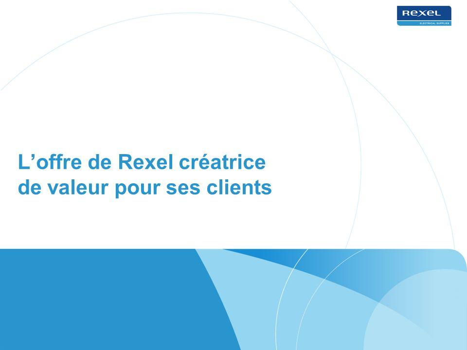 L'offre de Rexel créatrice de valeur pour ses clients