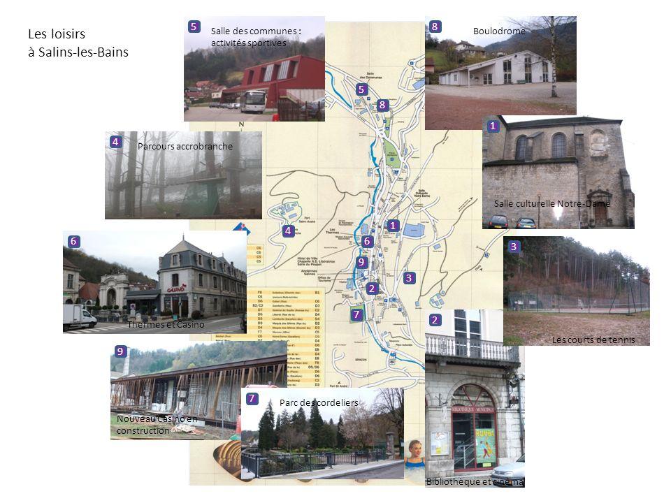 Les loisirs à Salins-les-Bains 5 8 5 8 1 4 1 4 6 6 3 9 3 2 7 2 9 7