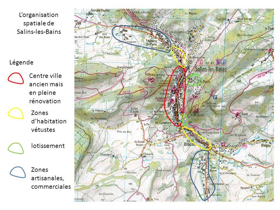 L'organisation spatiale de Salins-les-Bains