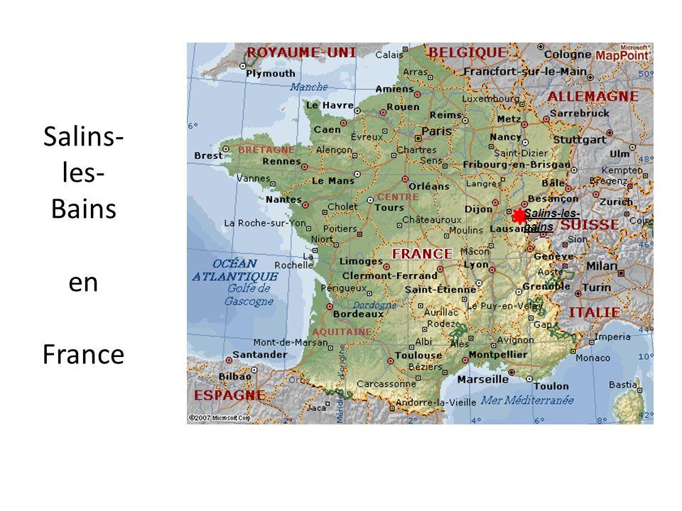 Salins-les-Bains en France