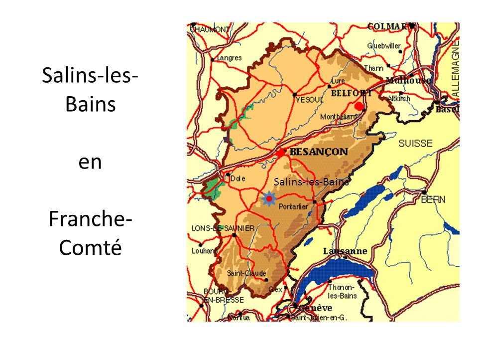 Salins-les-Bains en Franche-Comté