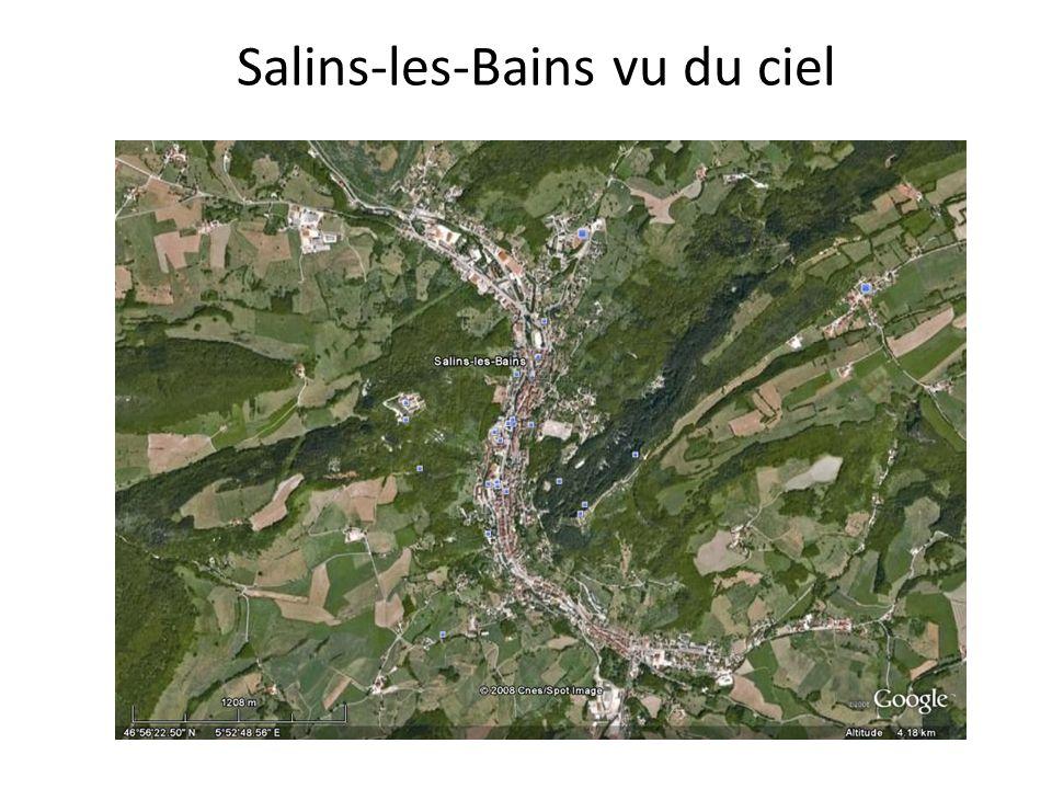Salins-les-Bains vu du ciel